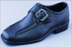 MAVEZZANO- Black Slip On Dress Shoe With Buckle