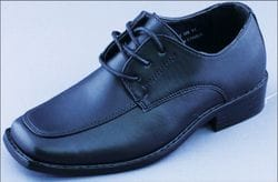 MAVEZZANO-Black Tie Up Dress Shoe