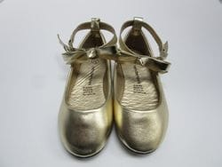 TENDERTOES- Gold Ballerina Flat With Ankle Strap