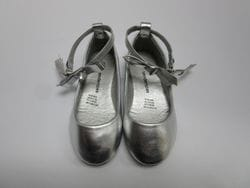 TENDERTOES- Silver Ballerina Flat With Ankle Strap
