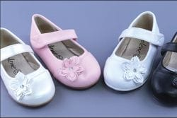 JOLENE- White or Ivory Shoe With Flower