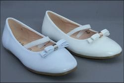 JOLENE- White or Ivory Flat With small Bow