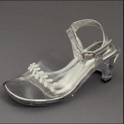 JOLENE- Silver Clear Heel