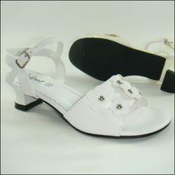 JOLENE- White Sandal With Heel