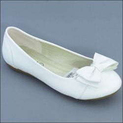 JOLENE- White or Ivory Flats With Bow