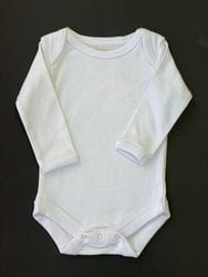 Plain long sleeve onesie