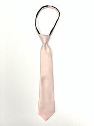Blush Zipper Tie