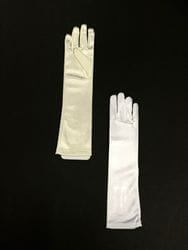 Long Satin Gloves- Ivory or White