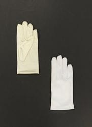 Short Satin Gloves- Ivory or White