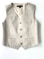 Natural Linen Vest