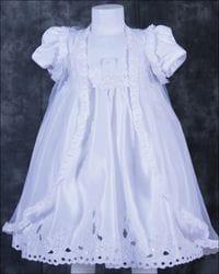 White, short sleeve Baptism dress