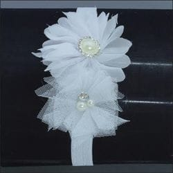 White flower infant headband
