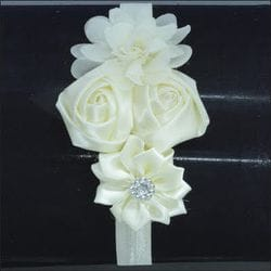 Ivory flower infant headband