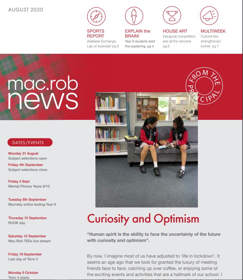August 20 Newsletter