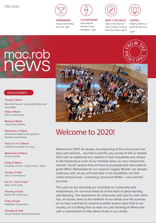 Mac Rob February 2020 Newsletter