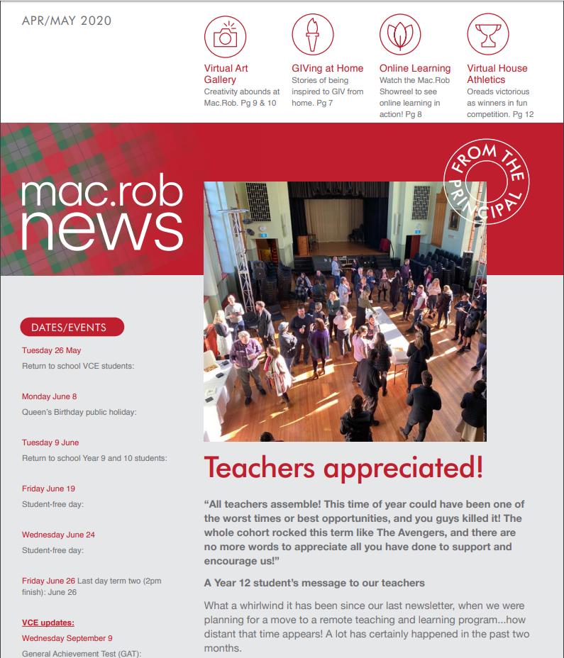 Mac Rob April/May 2020 Newsletter