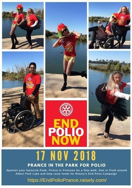 Prancing in the Park for Polio