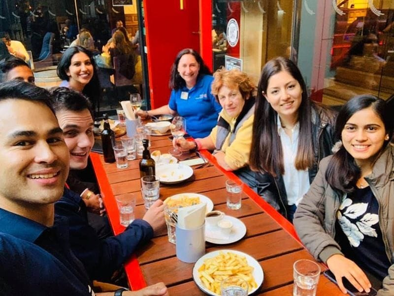 Surprise visit from Rotaract Club of Melbourne City