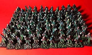 zombies: I molded 100 plastic zombies