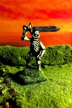 Skeleton with Sword 27mm single