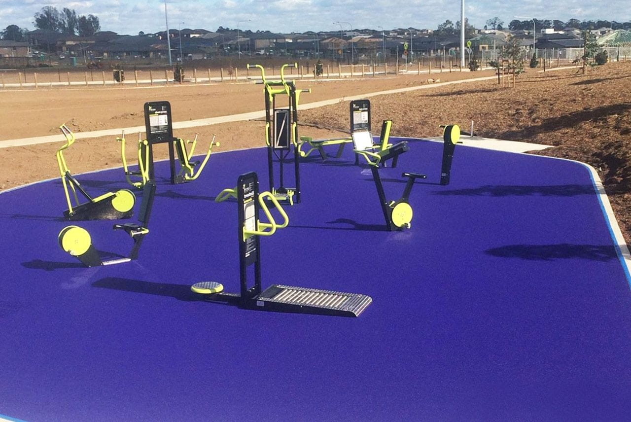 Gregory Hills Fitness Park by Synthetic Grass & Rubber Surfaces