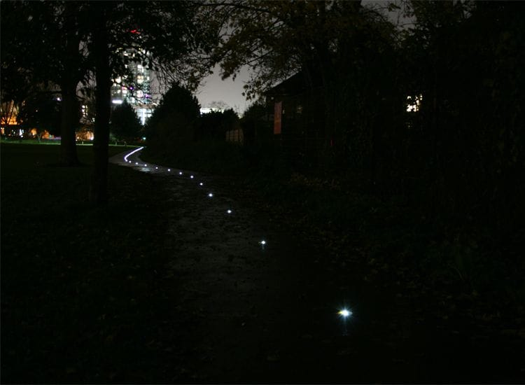 Solar-powered light path