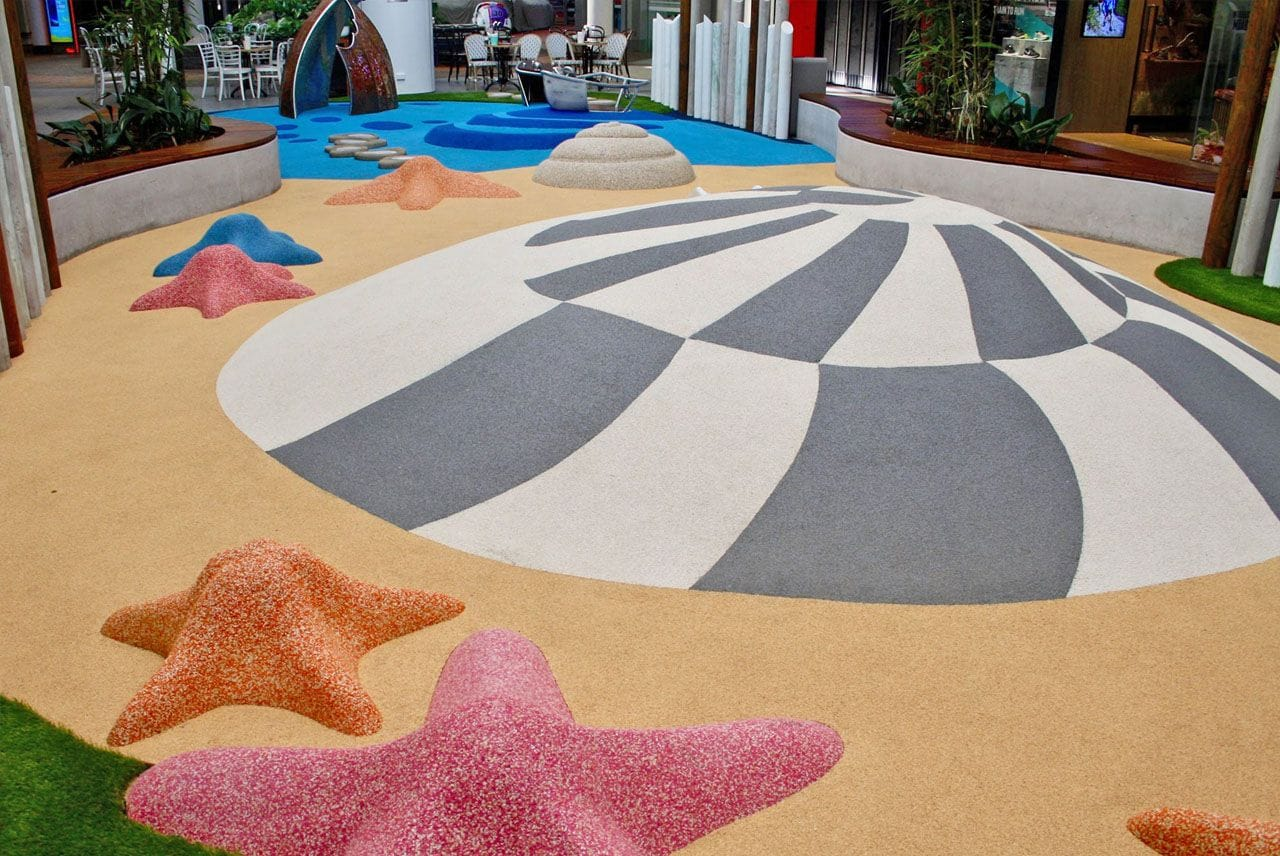 Rosehill TPV® Rubber Playground | Warringah Mall Shopping Centre by Synthetic Grass & Rubber Surfaces