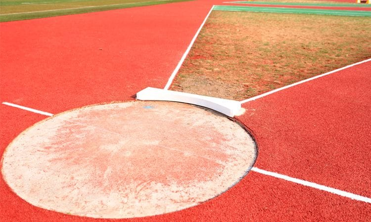Rubber Wetpour Shot Put