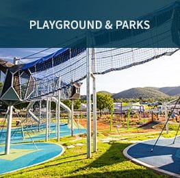 Playgrounds & Parks | Synthetic Grass & Rubber Surfaces