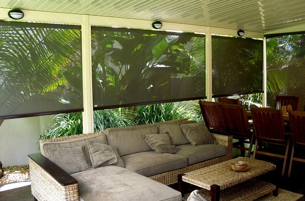 Browse our gallery of twist lock outdoor blinds on the Gold Coast