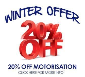 20% off motorised blinds