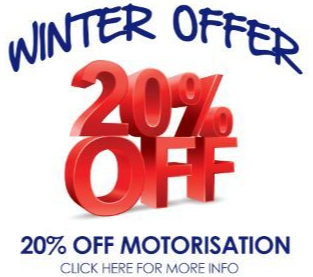 20% off motorised blinds at U-Select Blinds & Awnings on the Gold Coast