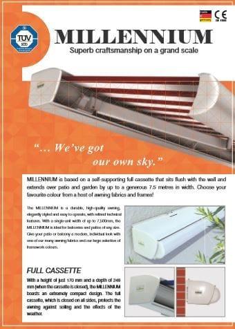 Millennium Folding Arm Brochure | Folding arm awnings on the Gold Coast