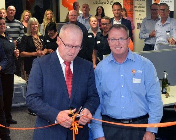 Sunshine Coast Mayor Mark Jamieson and Dan Fox at our new office grand opening