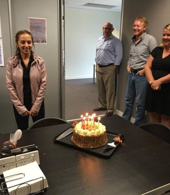 Birthdays celebrated by Courtney, Britt and Dan