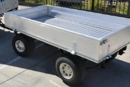 trailer general cargo 4-wheel self steer custom | golf car world
