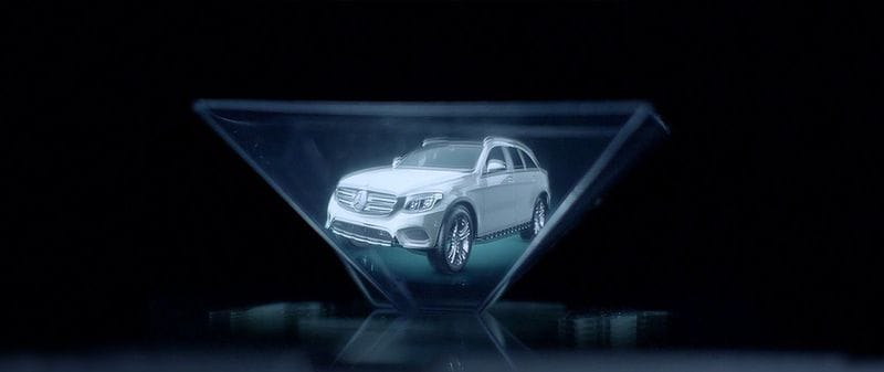 Mercedes hologram