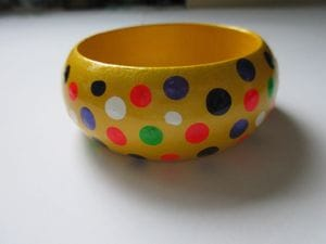 Yellow Polka Dots - Wide
