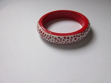 Red and White Dots - Narrow