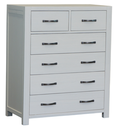 French Coast 6 Drawer Tallboy