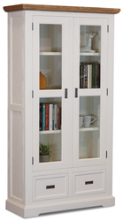 Hamptons Large Glass Display Unit