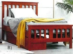 Billie Single Bed with Under Bed Drawers