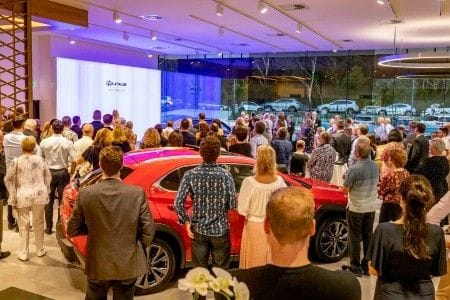 Opera star adds to opening of Lexus Central Coast showroom