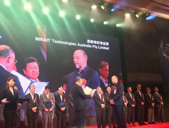 MIRAIT Technologies Australia recognised at Osaka awards event