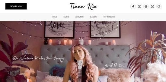 New Website launched for Tiana Rie - Professional Singer & DJ