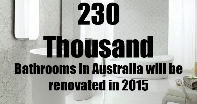 Thousands of bathrooms are renovated in Australia each year