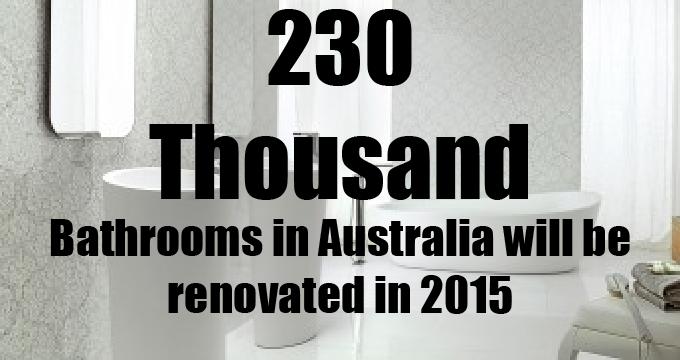 成千上万的浴室在澳大利亚每年装修