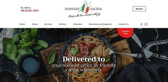 New Website launched for Nonna's Cucina