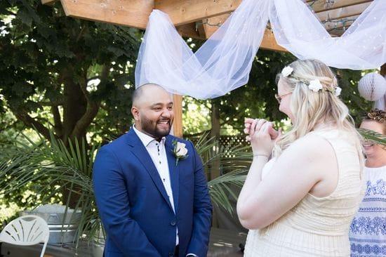 A Beautiful Backyard Summer Wedding