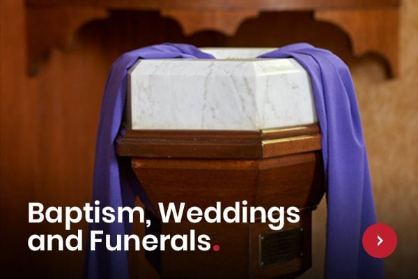 Baptisms, weddings and funerals at Wesley Uniting Church